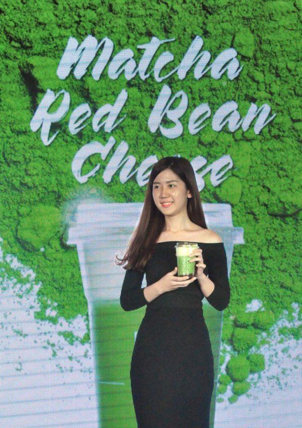 chizu drink japanese cheese beverage sunway pyramid matcha red bean