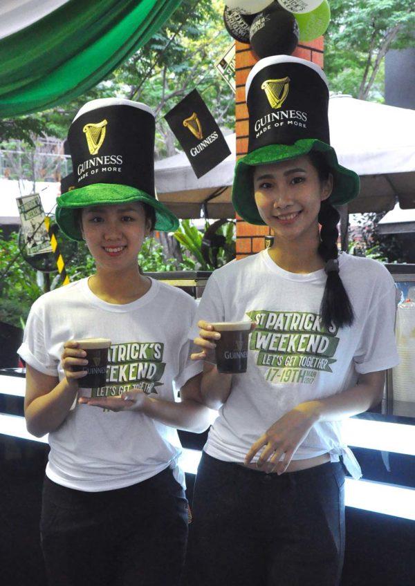 guinness st. patrick's weekend the square publika mall kuala lumpur waitress