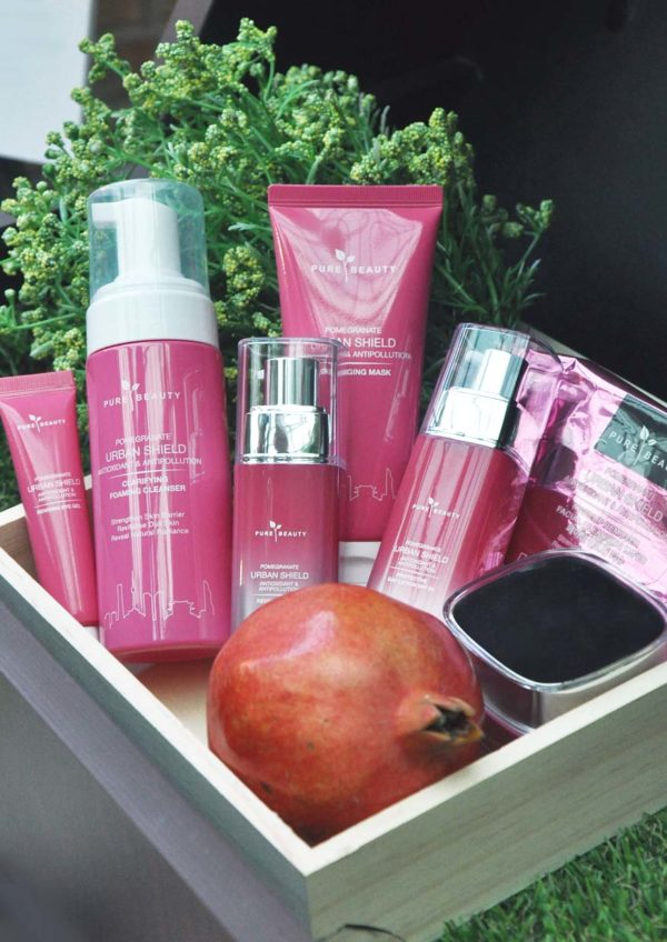 Watsons Pure Beauty Pomegranate Urban Shield skin care line