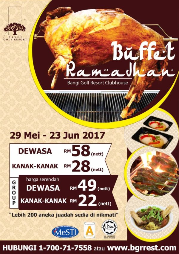 bangi golf resort ramadan buffet leaflet