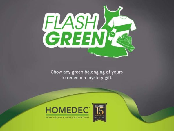 homedec kuala lumpur convention centre salebration flash green