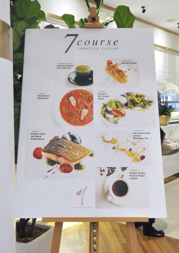 marco creative cuisine 1 utama shopping centre 7-course menu