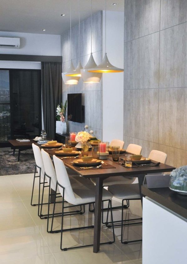 the greens subang west freehold residential condominium dining area