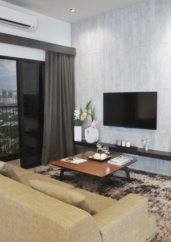 the greens subang west freehold residential condominium living hall