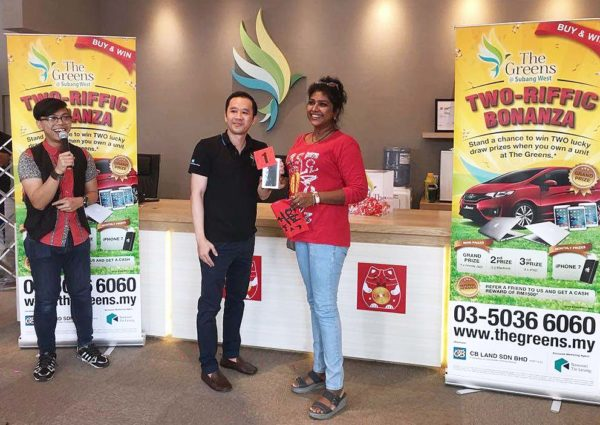 the greens subang west freehold residential condominium two-riffic bonanza monthly lucky draw