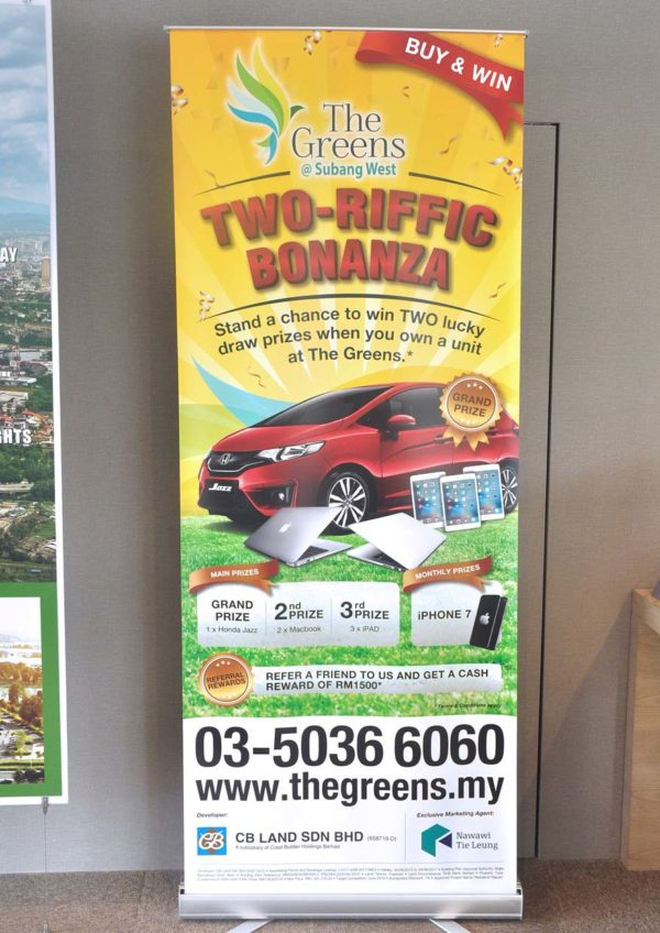 the greens subang west freehold residential condominium two-riffic bonanza lucky draw campaign