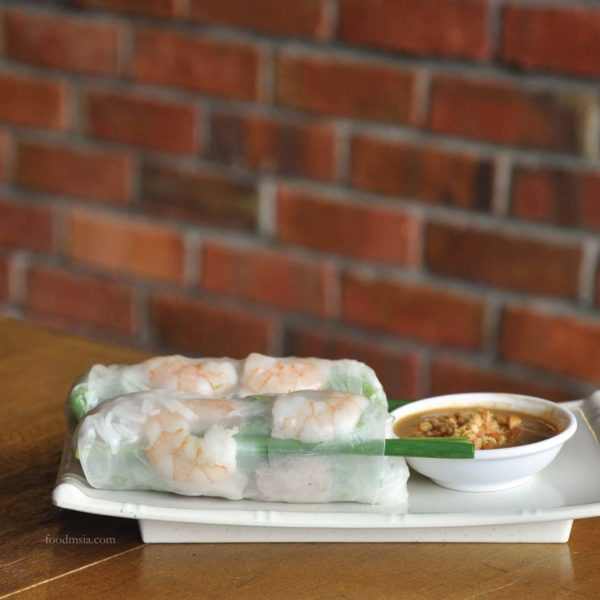 wonton and pho happy garden kuala lumpur goi cuon vietnamese spring roll