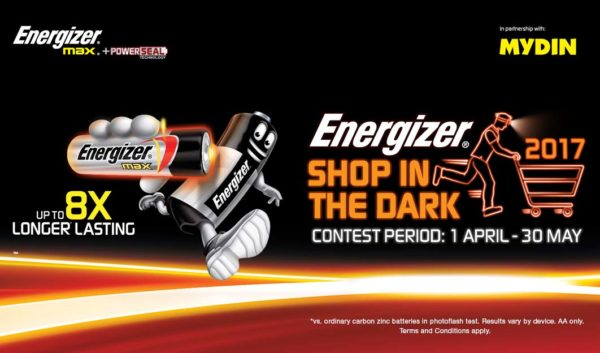 energizer shop in the dark campaign with mydin