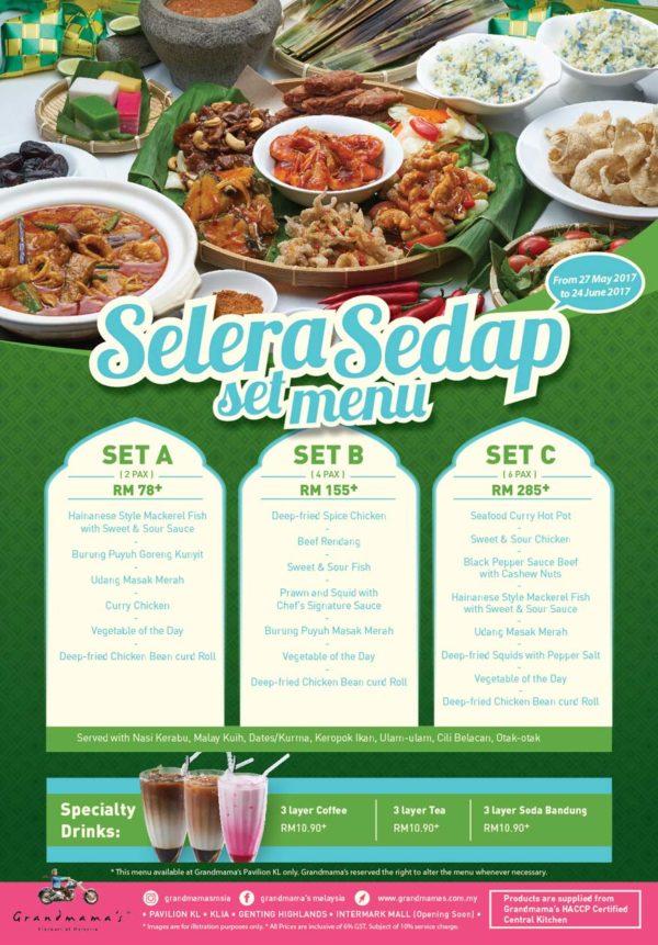 grandmama's malaysia cuisine selera sedap set menu ramadan promo pavilion kl