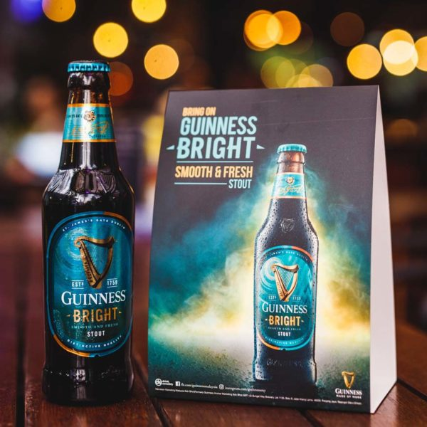 guinness bright brand new stout malaysia bottle