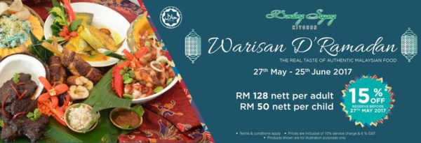ramadan buffet dondang sayang coffee house corus hotel kl promo