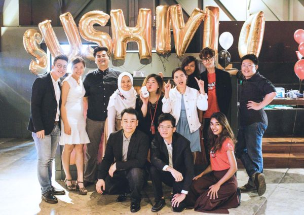 sushivid crunch social media influencer workshop team