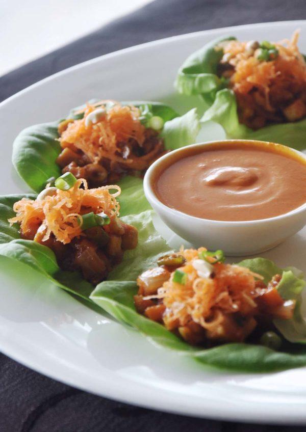 what tasty food indian vegetarian bangsar lettuce roll