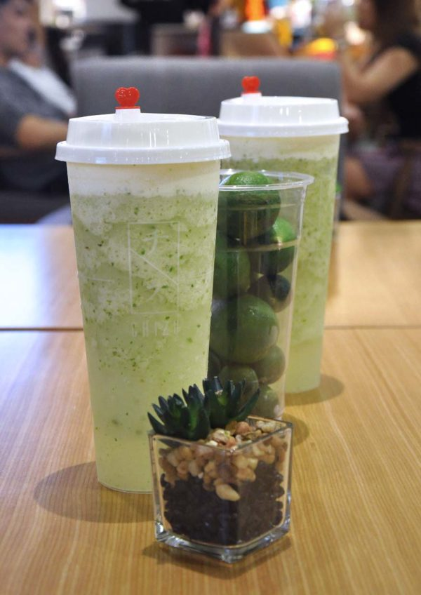 chizu drink sunway pyramid lime cheese smoothie beverage