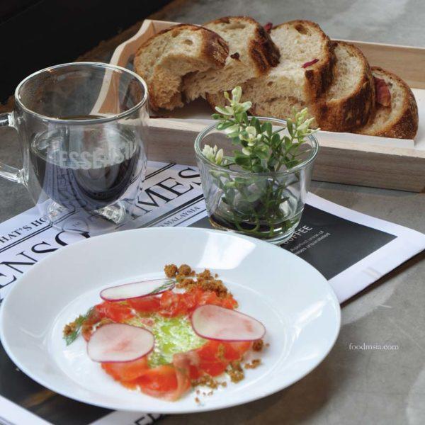 essenso microground black coffee pop up dining kl cured salmon
