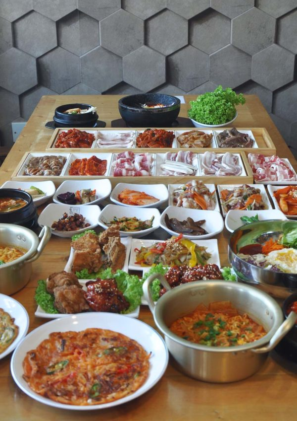 hwa ga korean restaurant bbq buffet food items