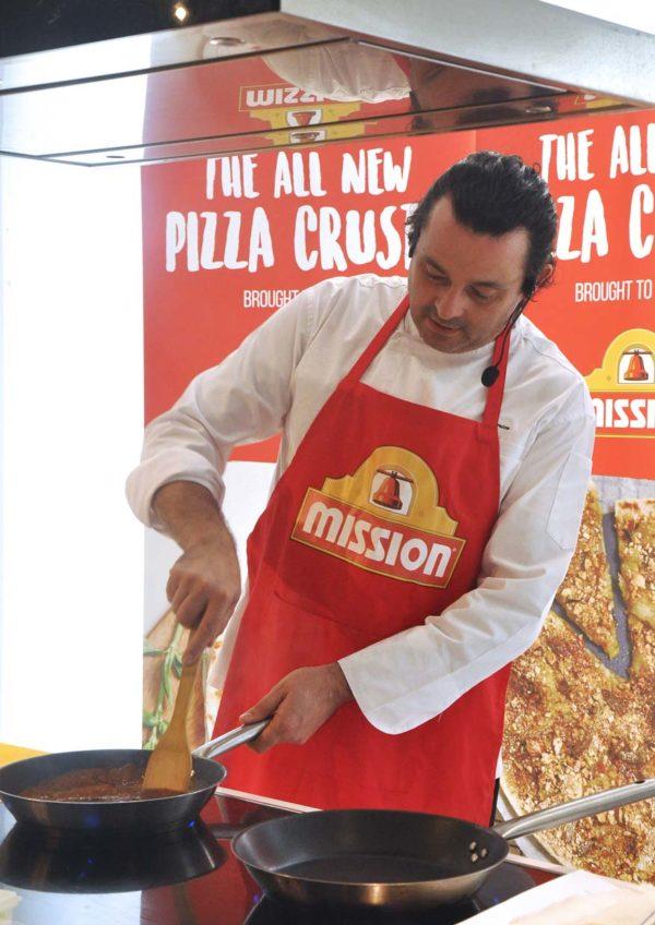mission foods pizza crusts chef federico michielleto
