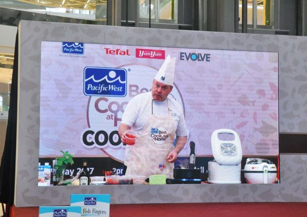 pacific west best cook is at home cookshow chef garry edson