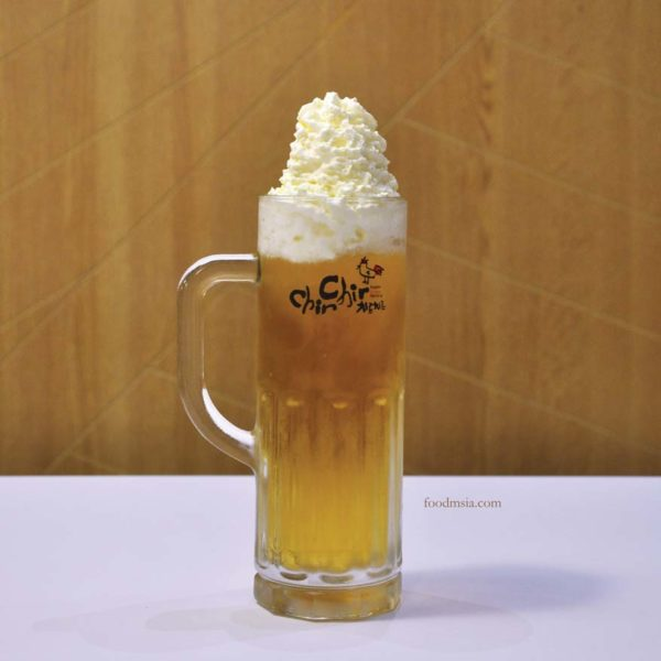 chir chir fusion chicken factory korean chain chir cream beer
