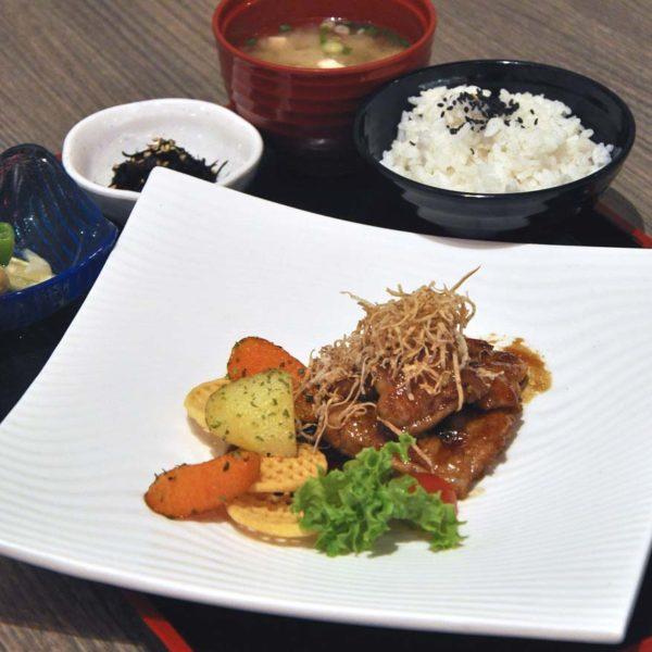 kokoro confe japanese cuisine desa sri hartamas chicken teriyaki rice set