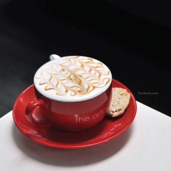 the art coffee sunway giza kota damansara caramel macchiato
