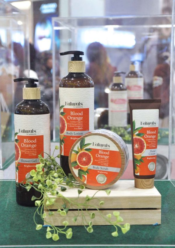naturals by watsons hair and body care range blood orange