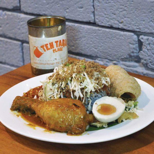 makan-makan trail citta mall ara damansara teh tarik place nasi kerabu