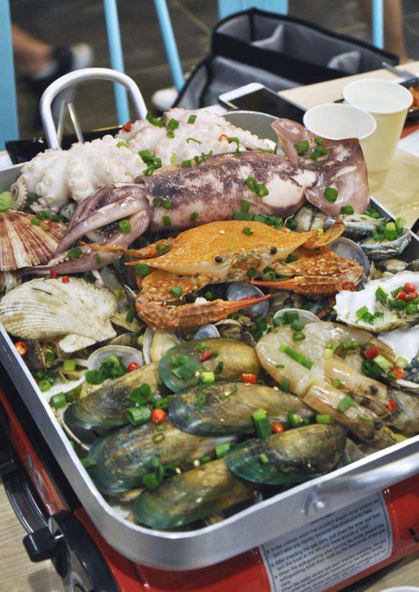 omaya pavilion kuala lumpur korean restaurant busan giant seafood platter