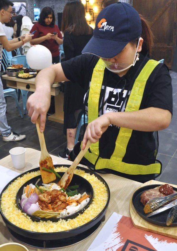 omaya pavilion kuala lumpur korean restaurant cooking