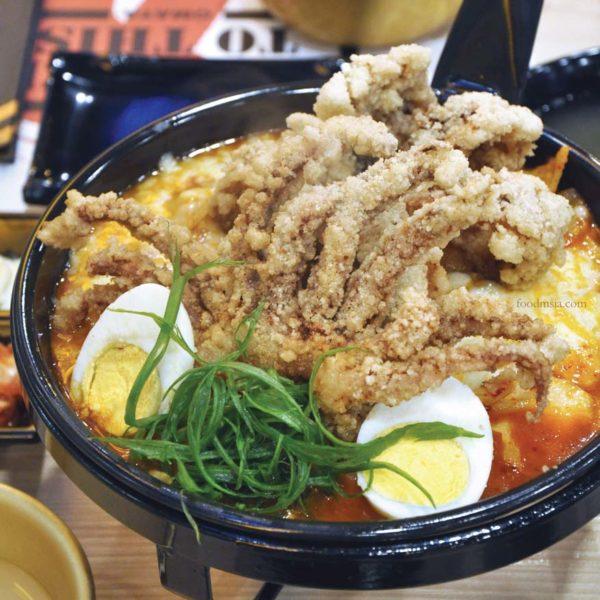 omaya pavilion kuala lumpur korean restaurant squid cheesy toppokki stew
