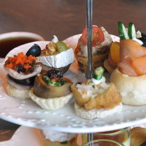 royal high tea superstar libra cruise hors d'oeuvre