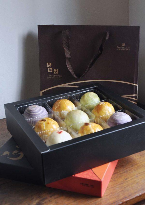 donutes coffee cake baking mid autumn festival taiwanese mooncake box