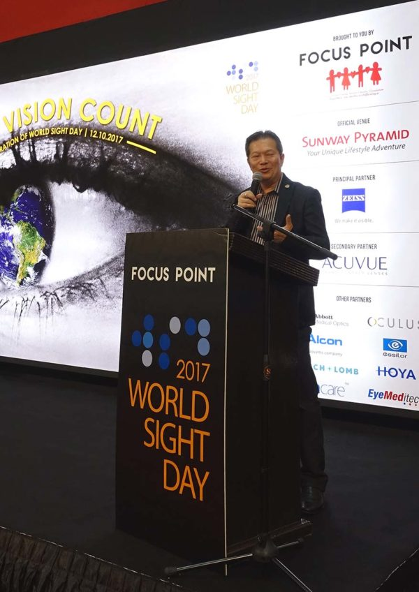focus point world sight day make vision count dato liaw choon liang