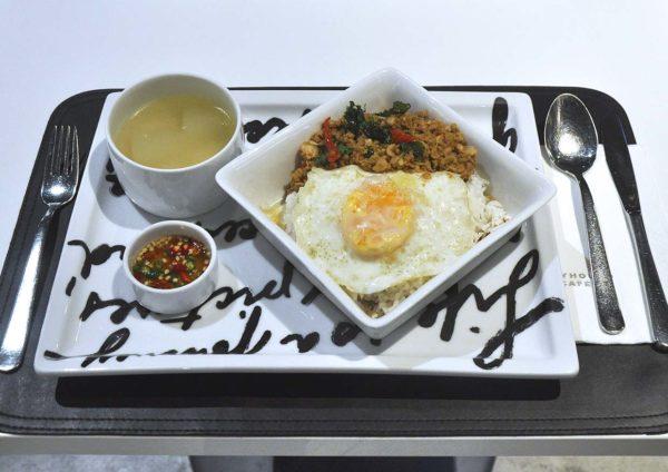 greyhound cafe ansa weekday delight set lunch minced chicken sweet basil