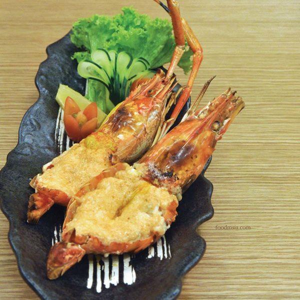 harumi 23 japanese restaurant plaza arkadia desa parkcity mentai king prawn