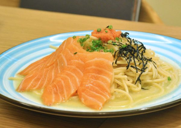 harumi 23 japanese restaurant plaza arkadia desa parkcity salmon mentaiko spaghetti