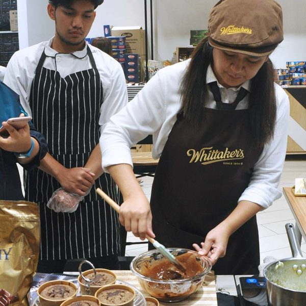 new zealand whittakers chocolate chef faizah cooking demo