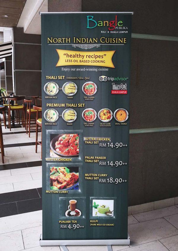 bangle publika northern indian restaurant thali set lunch