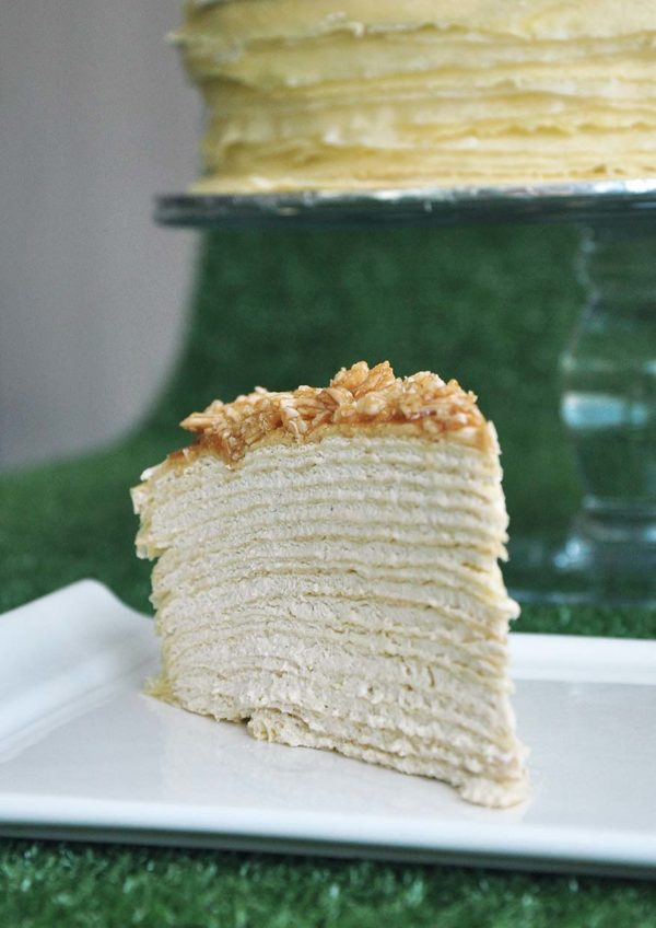 eat cake today online ordering almond salted caramel mille crepe food foundry