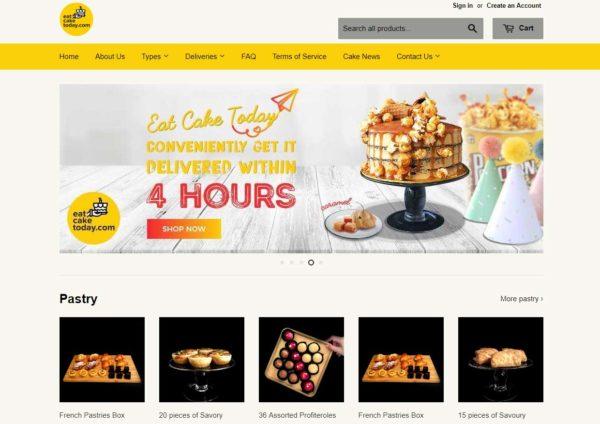 eat cake today online ordering website homepage