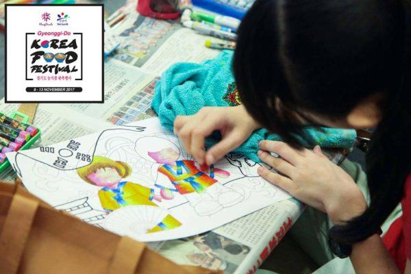 gyeonggi-do korea food festival klang parade children colouring contest