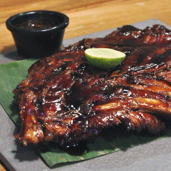 naughty nuri's balinese food half price lunch promo bbq spare ribs