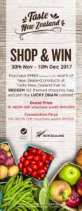 aeon taste new zealand food fair shop and win