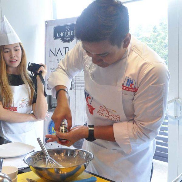 chefology mccormick blogger meet and greet chef colin edward lim basil crepes