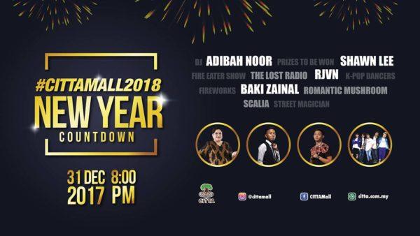 citta mall ara damansara new year countdown 2018 activity