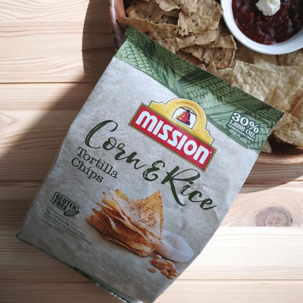 mission foods healthy tortilla chips corn and rice