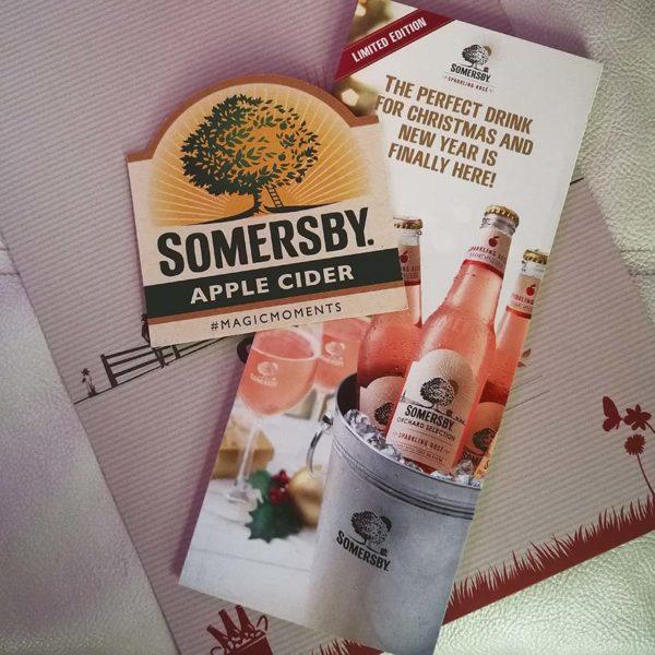 somersby sparkling rose apple cider festive seasons