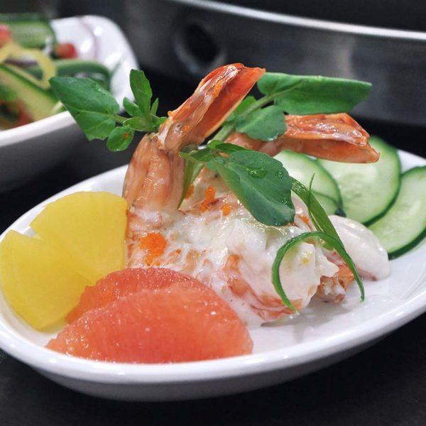 yoogane malaysia korean cuisine christmas menu citron prawn