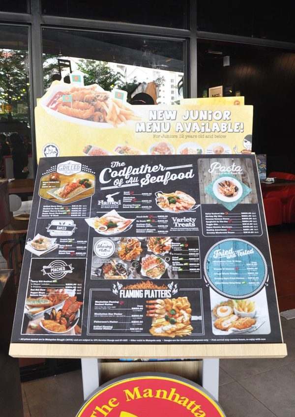 citta mall ara damansara the manhattan fish market menu