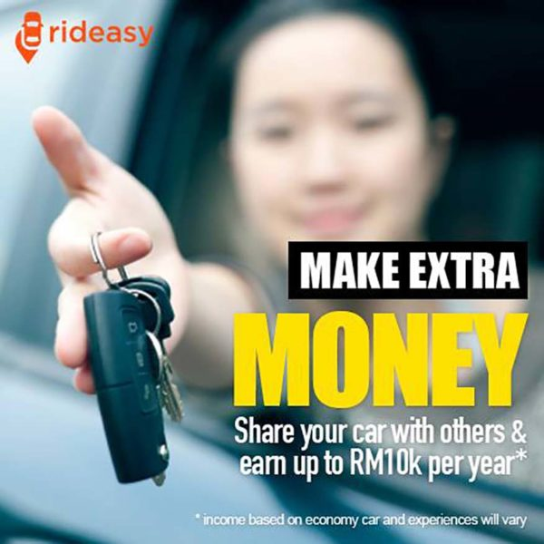 rideasy malaysia online car sharing service provider extra income